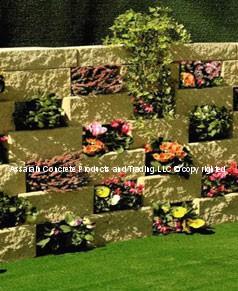 Split Block Flower Wall System